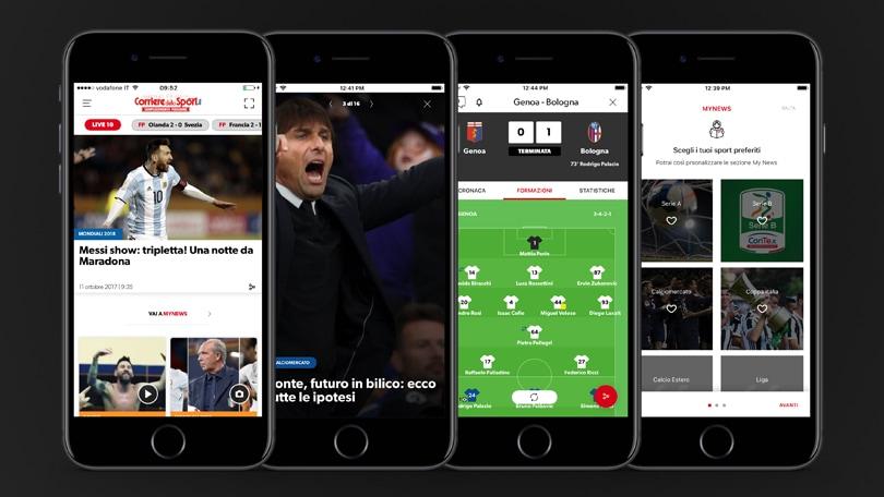 La nuova App del Corriere dello Sport Stadio