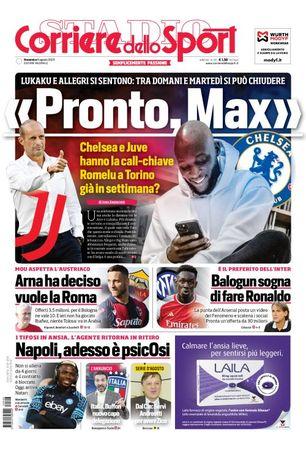 Prima del Corriere dello Sport