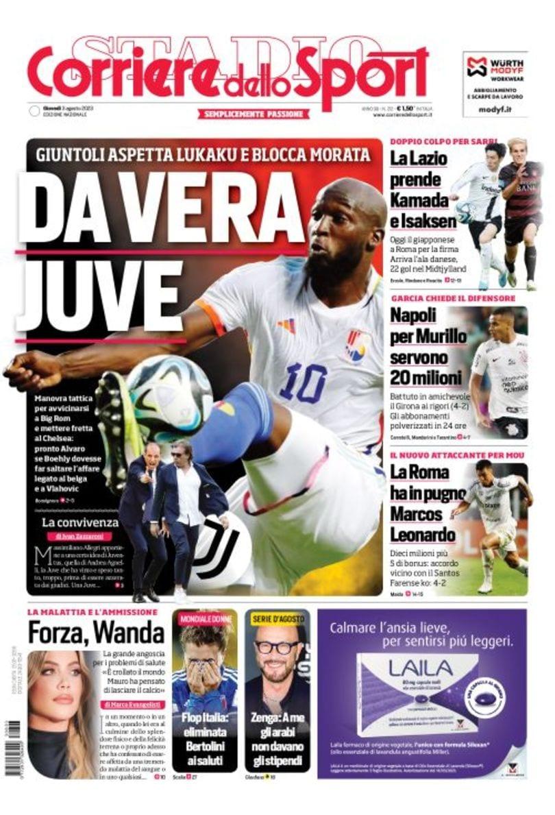 Corriere Dello Sport Prima Pagina Cr7 Shock E Covid